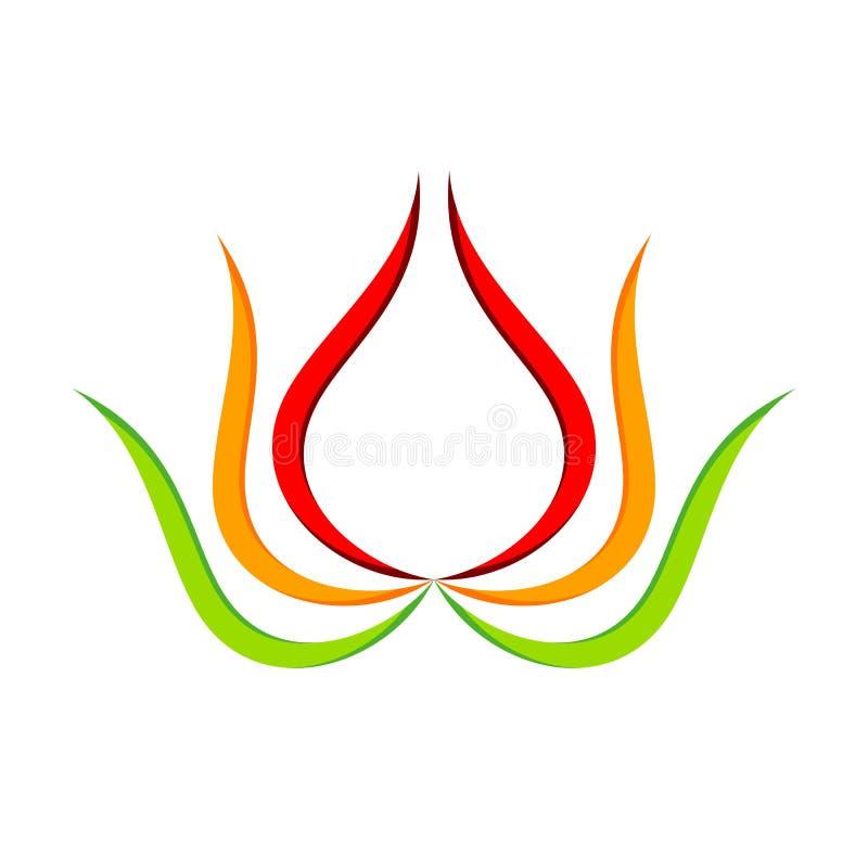 Lotus Flower Geometric Swoosh Symbol abstrata ilustração stock