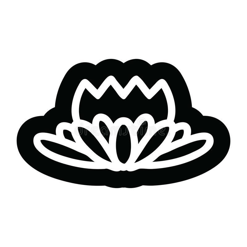 lotus flower icon stock illustration