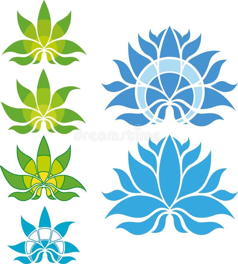 Lotus Flower Icon/Logo Set stockfotos