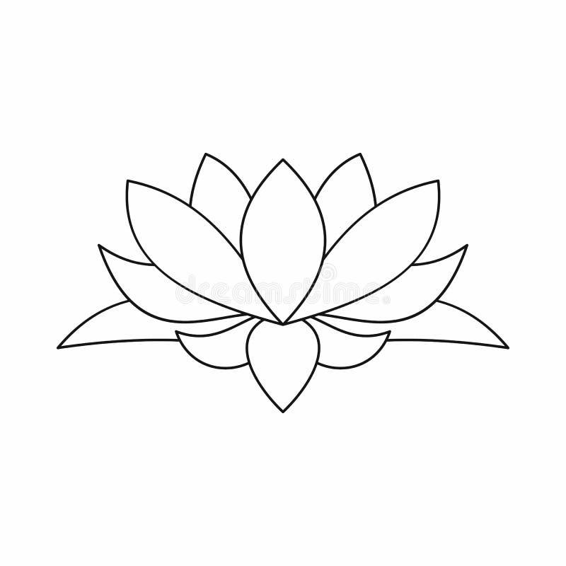 Lotus flower icon outline style stock vector illustration of download lotus flower icon outline style stock vector illustration of isolated ayurveda mightylinksfo