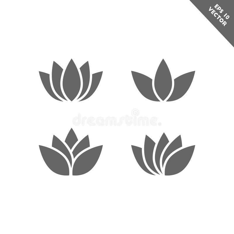 Free Lotus Flower Icon Set Royalty Free Stock Photos - 121039368