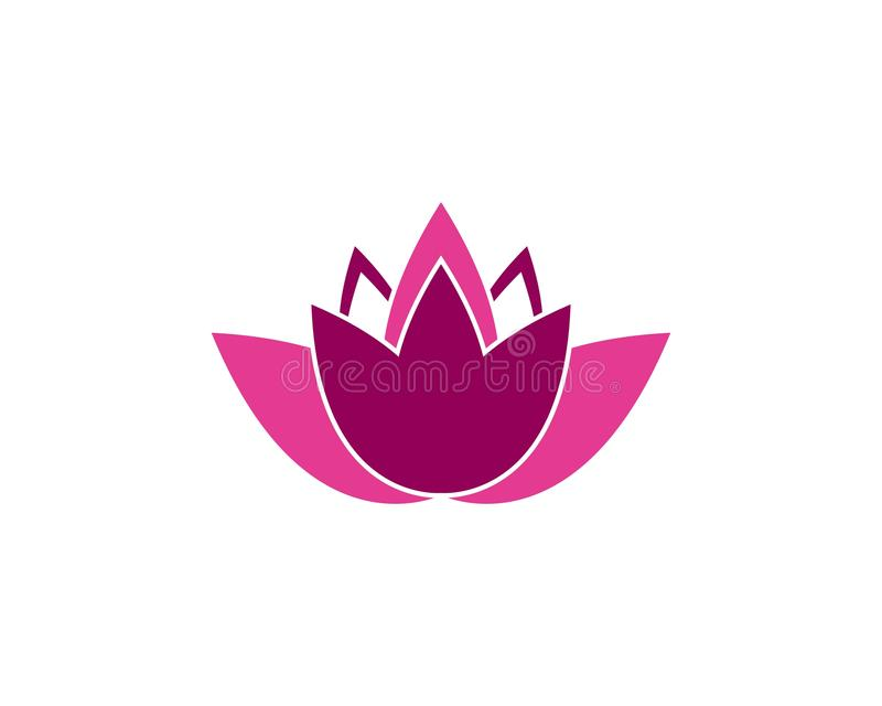 Lotus flower icon and symbol vector illustration royalty free illustration