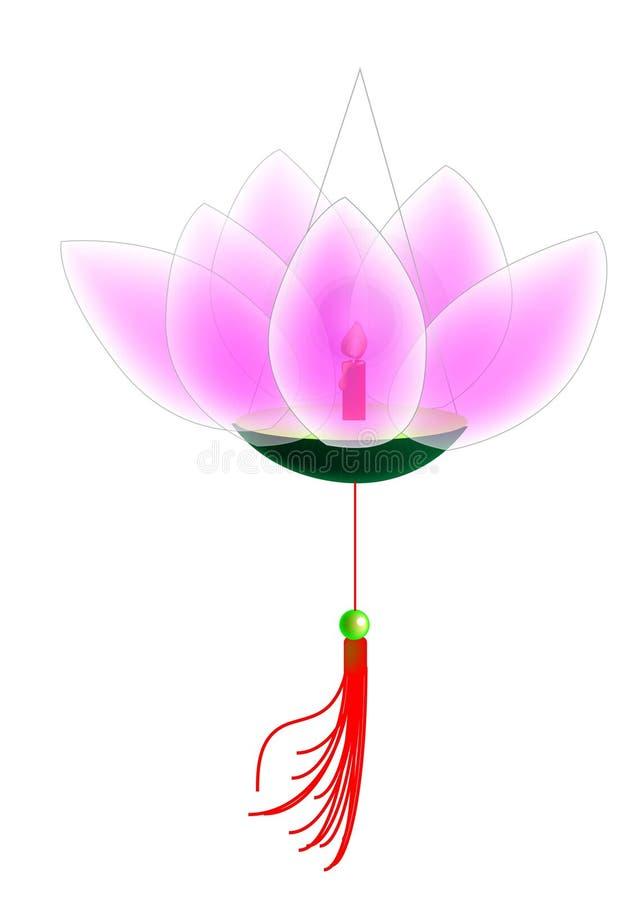 Download Lotus flower lantern stock vector. Image of light, computer - 3395514