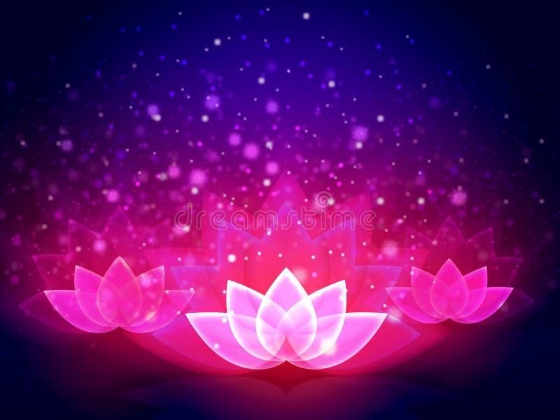Lotus Flower Light stock abbildung