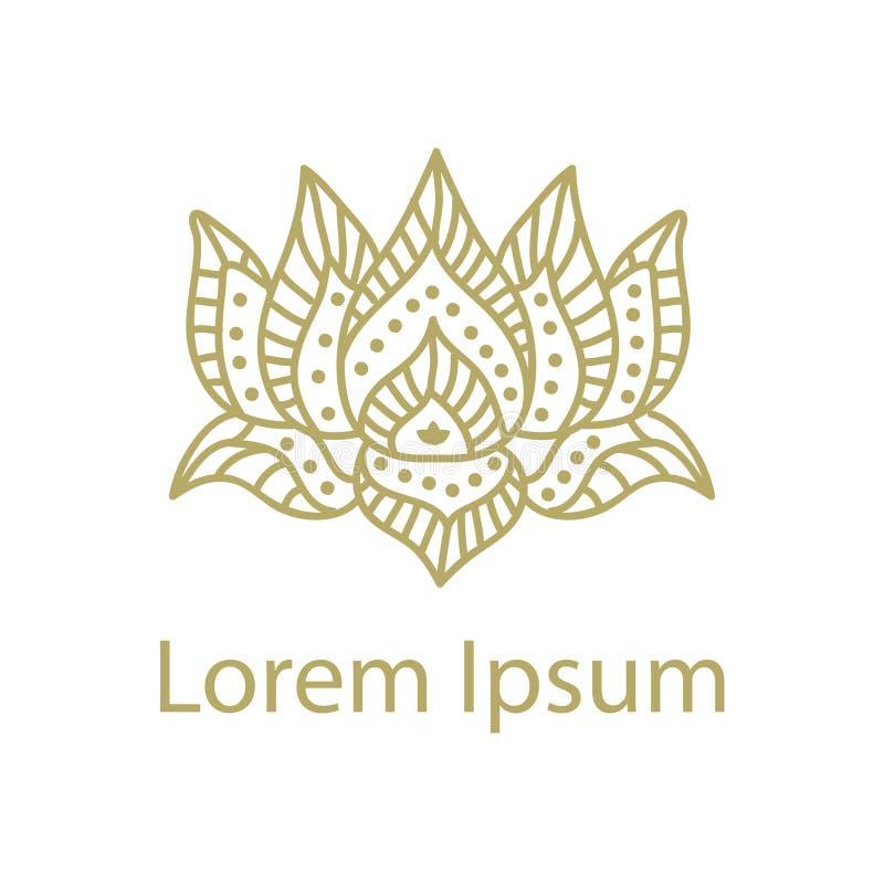 Lotus Flower Logo ilustración del vector