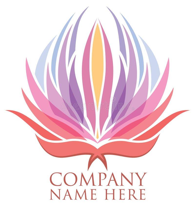 Lotus Flower Logo illustration de vecteur