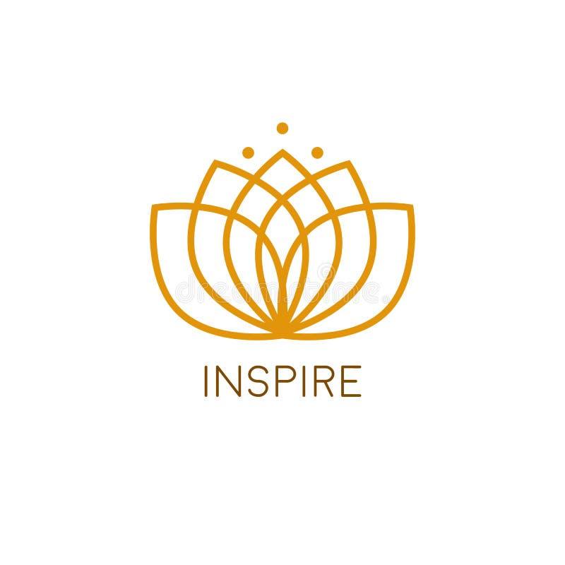 Lotus Flower Logo illustrazione di stock
