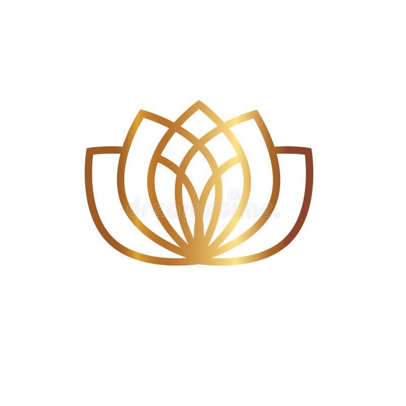 Lotus Flower Logo fotos de stock royalty free
