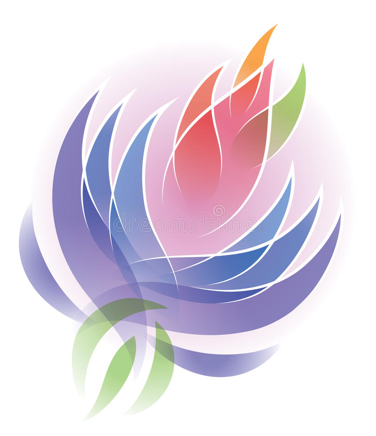 Lotus Flower Logo. A flower lotus logo icon health nature fresh natural