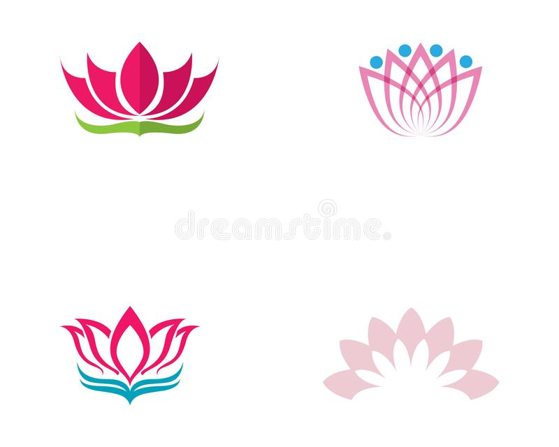 Lotus flower logo and symbols vector template vector illustration