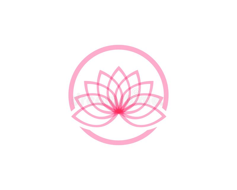 Lotus flower logo and symbols vector template royalty free illustration