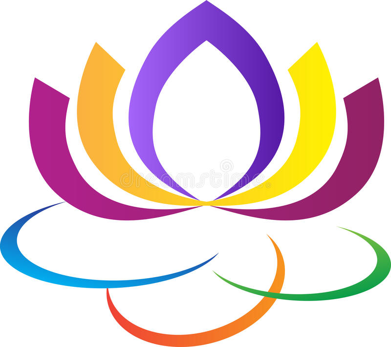 Lotus flower logo. A vector drawing represents lotus flower logo design