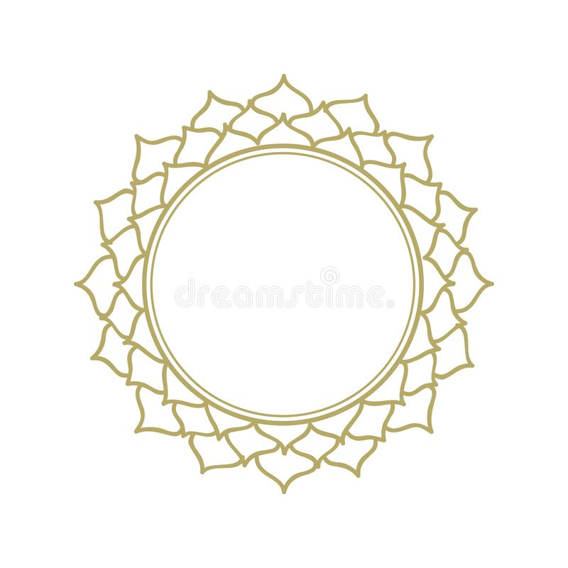 Lotus flower frame royalty free illustration