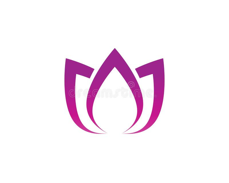 Lotus flower nature logo and symbol template Vector vector illustration