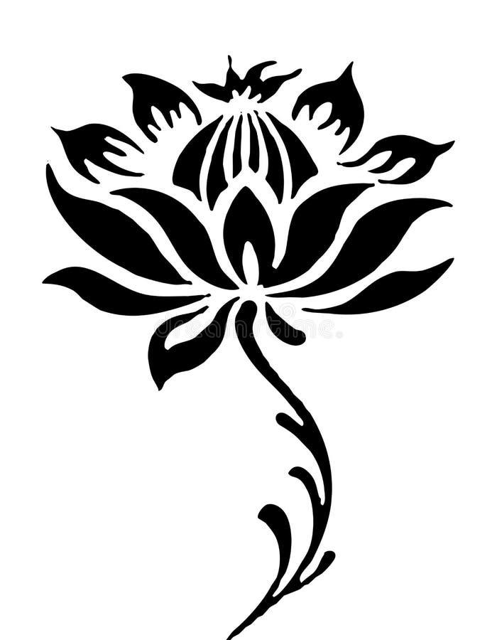 Lotus flower pattern stock illustration