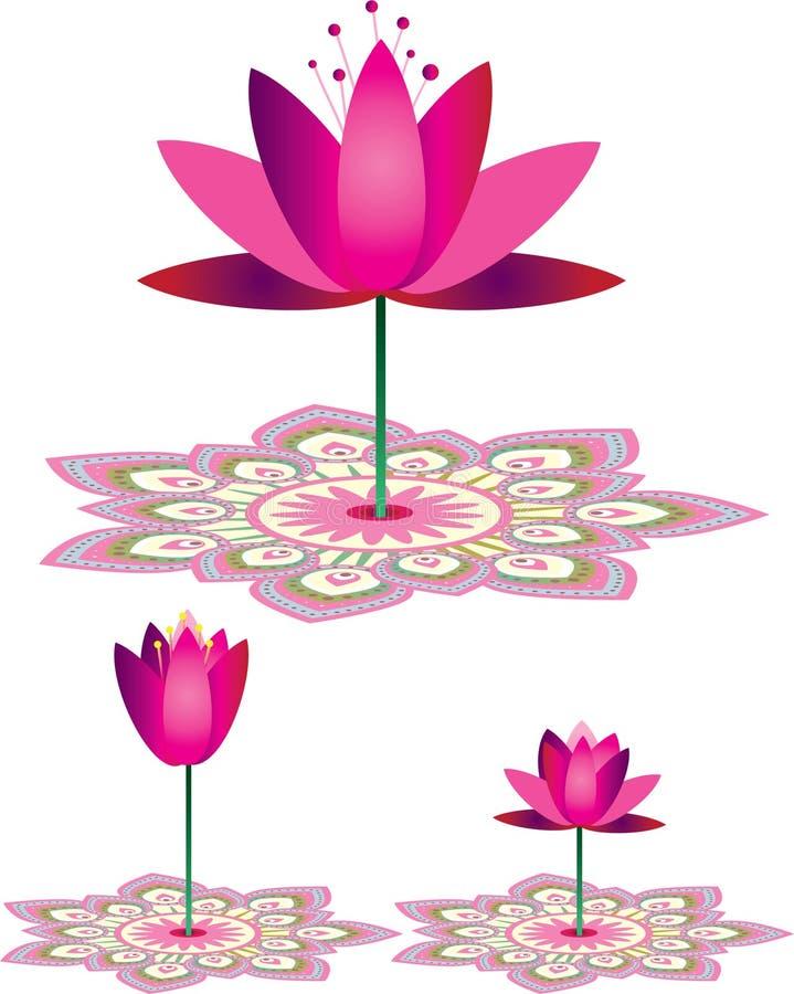 Lotus flower pattern royalty free illustration