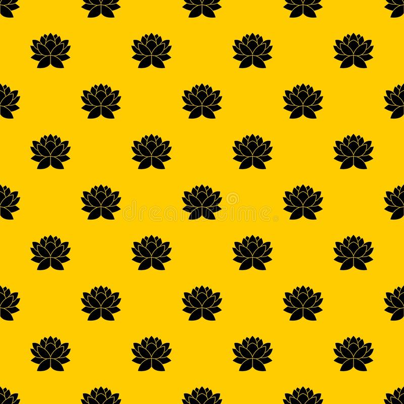 Lotus flower pattern vector. Lotus flower pattern seamless vector repeat geometric yellow for any design stock illustration