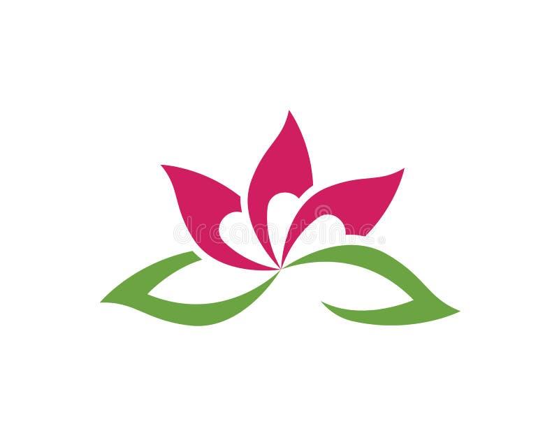 Lotus Flower Sign für Wellness, Badekurort und Yoga Vektor Illustratio lizenzfreie abbildung