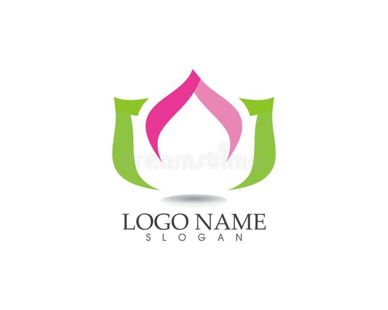 Lotus Flower Sign para o bem-estar, os termas e a ioga Vetor Illustratio ilustração royalty free