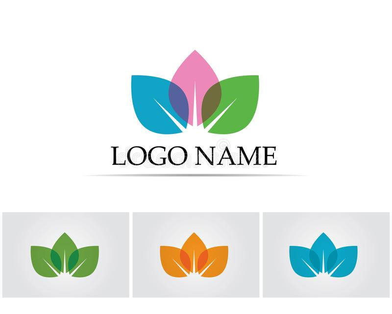 Lotus Flower Sign for Wellness Spa and Yoga. Vector Illustration royalty free illustration
