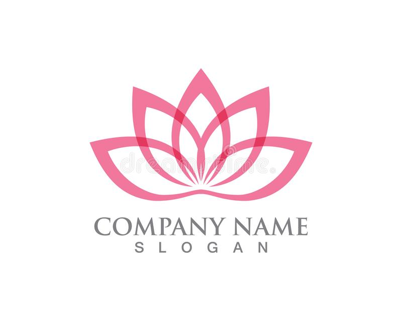 Lotus Flower Sign for Wellness, Spa and Yoga. Vector Illustration vector illustration