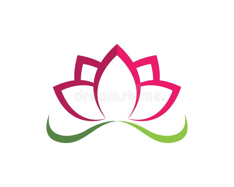 Lotus Flower Sign for Wellness Spa and Yoga. Vector vector illustration
