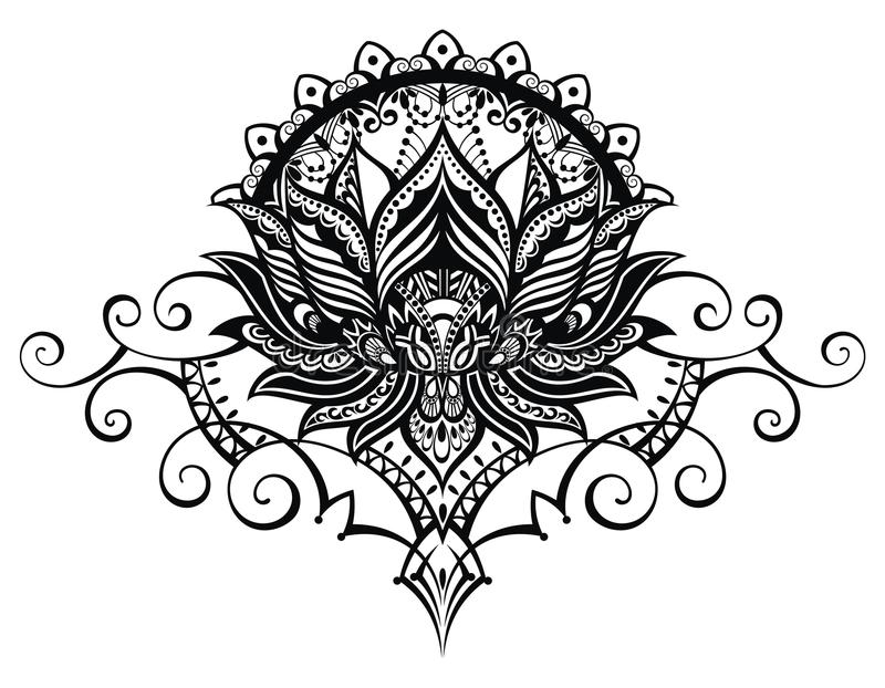 Lotus flower tattoo style stock vector illustration of drawn download lotus flower tattoo style stock vector illustration of drawn 79730196 mightylinksfo