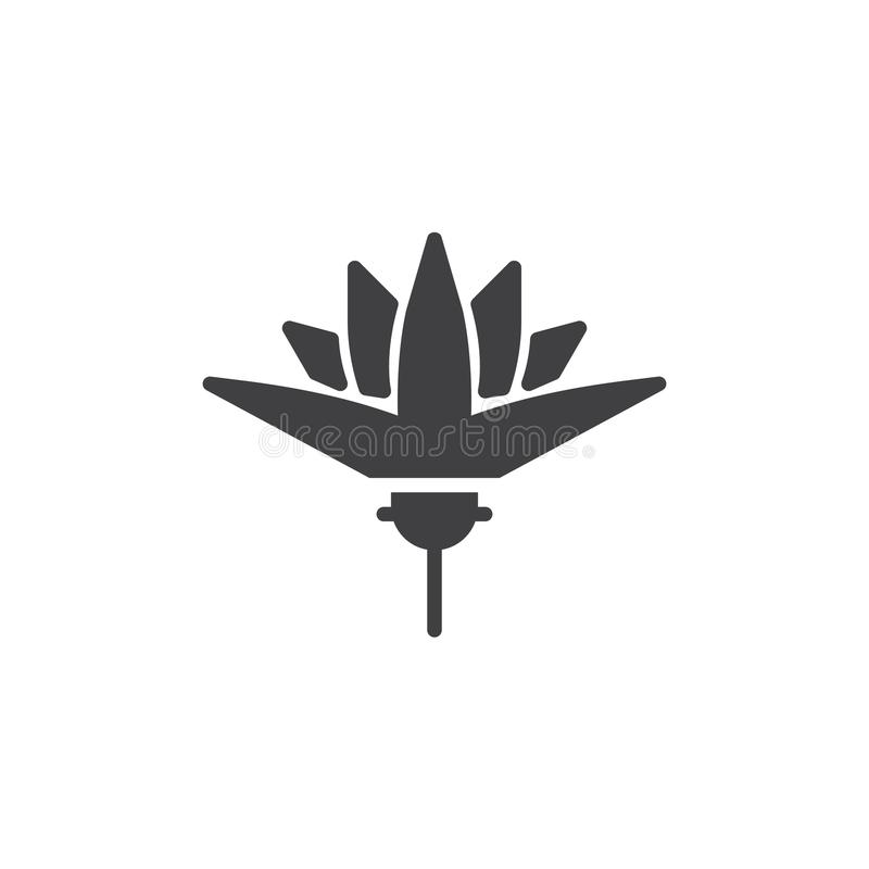 Lotus Flower Vector Icon Stock Vector Illustration Of Ancient