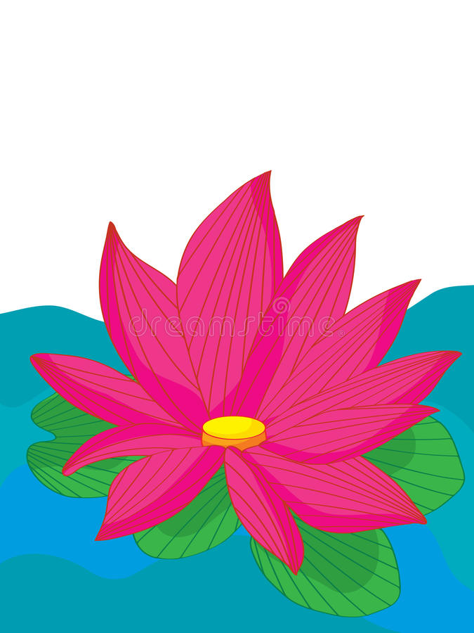 Lotus Flower Water royalty-vrije illustratie