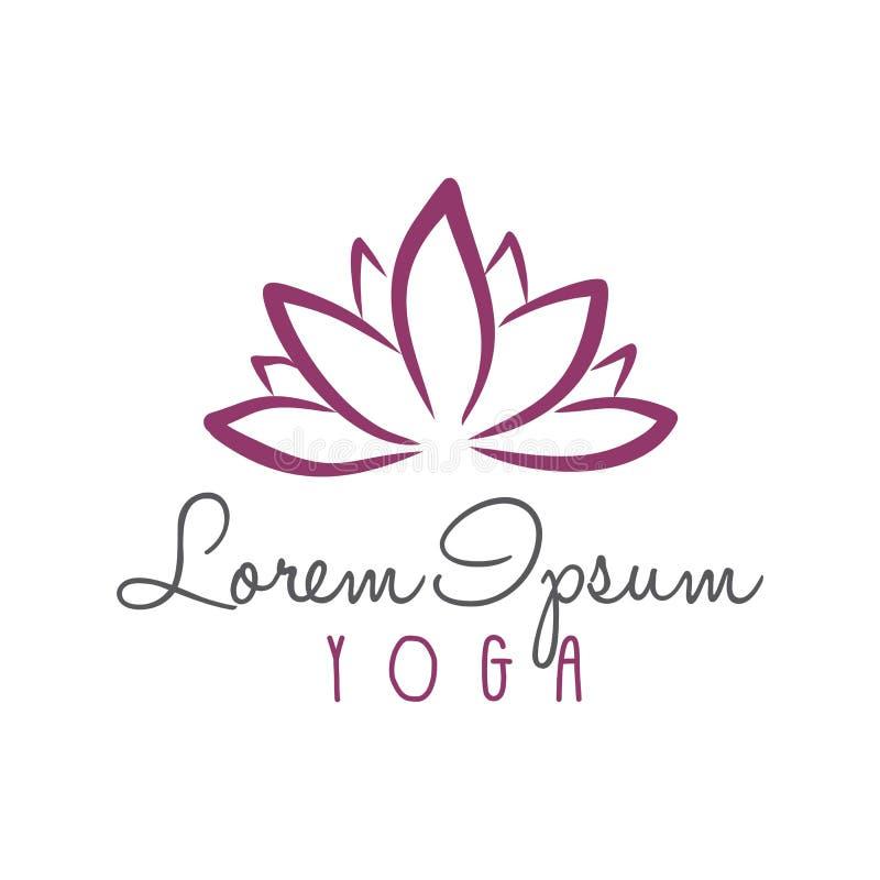 Lotus Flower Yoga Beauty Center Logo Vector royalty-vrije illustratie