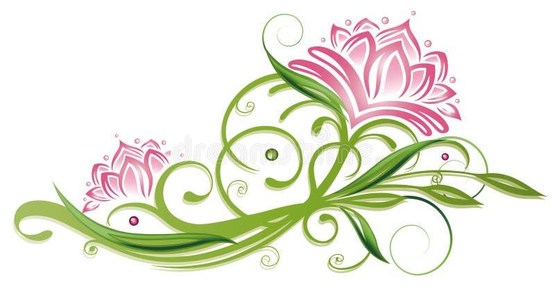 Lotus flowers royalty free illustration