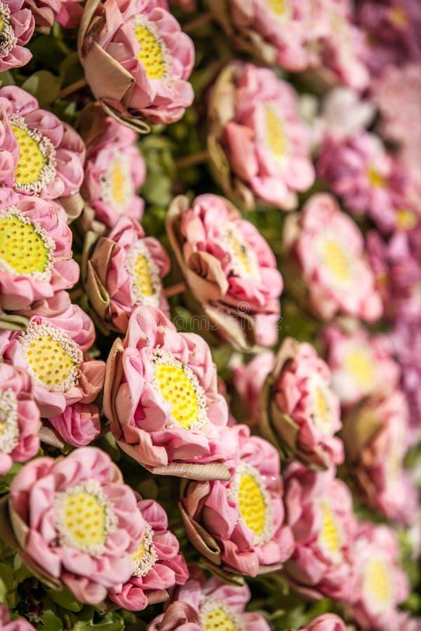 Lotus Flowers Decoration sur l'étape photographie stock