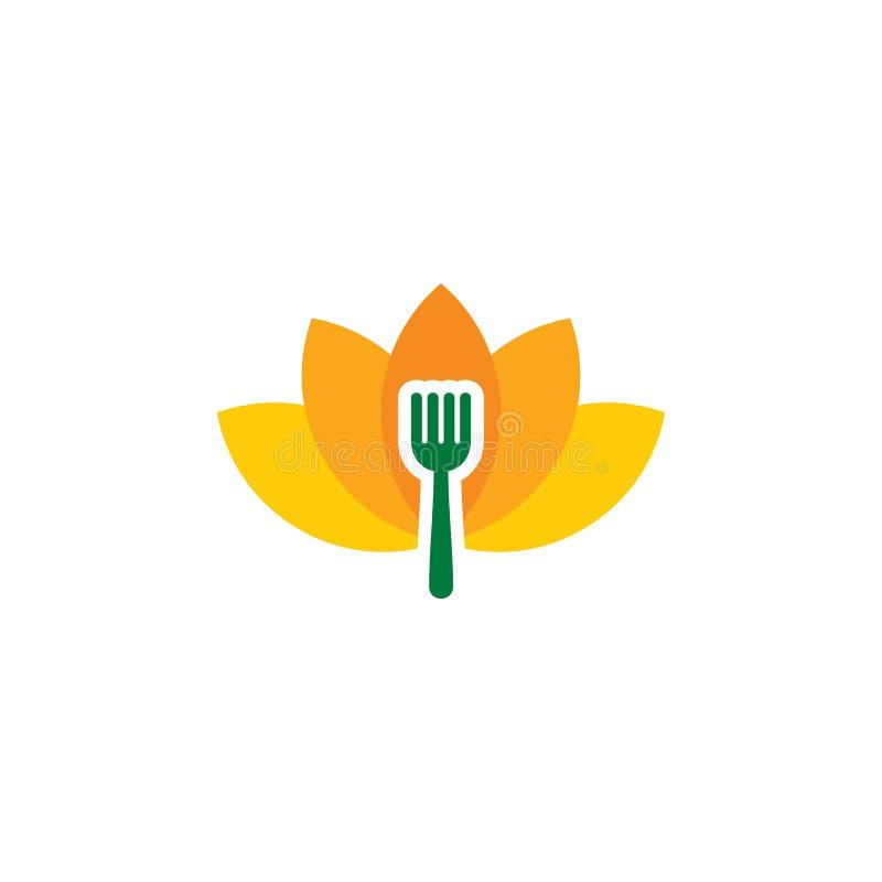 Lotus Food Logo Icon Design vektor abbildung