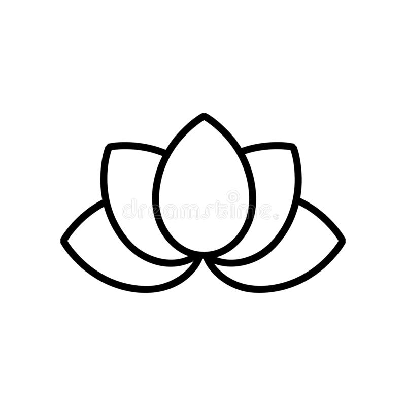 Lotus géométrique simple image stock