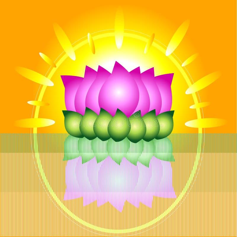 Lotus graphique photo libre de droits