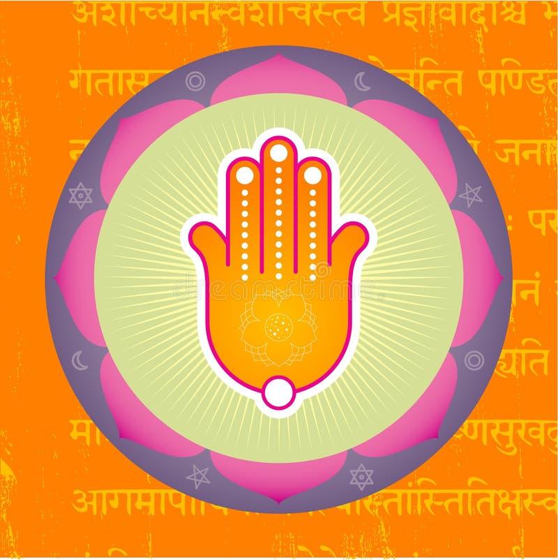 Download Lotus Hand stock vector. Image of reflexology, hamsa, health - 3670700