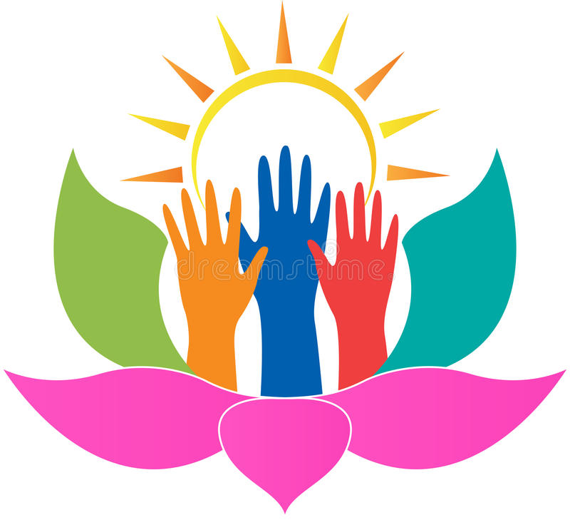Download Lotus Hands Stock Vector - Image: 43051428