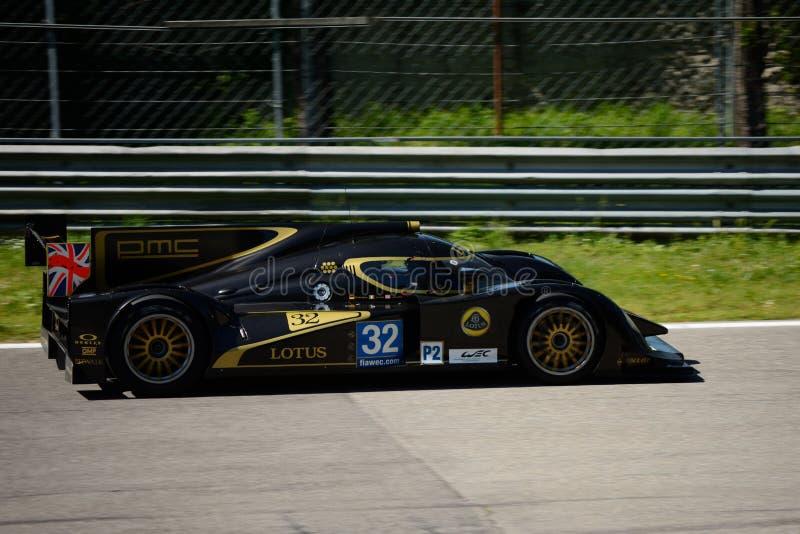 2012 Lotus/het Prototypetest van Lola LMP2 in Monza royalty-vrije stock foto's