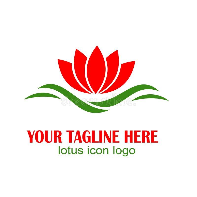 Lotus-Ikonenlogo, farbenreiches Design vektor abbildung