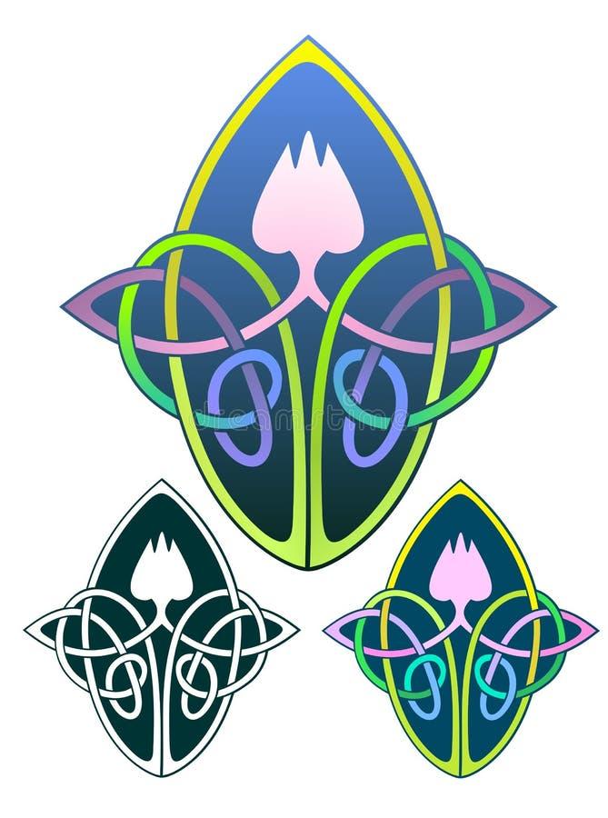 Lotus Knot stock photo