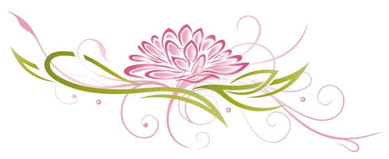 Lotus, kwiaty, menchie royalty ilustracja