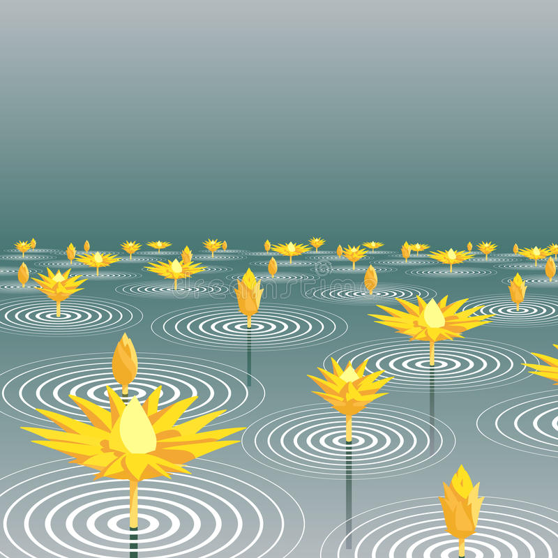 Download Lotus lake stock vector. Illustration of beautiful, flower - 15906380