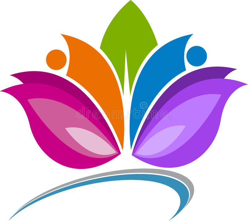 Lotus Logo ilustração stock