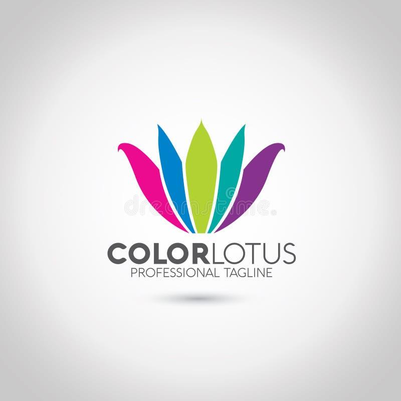 Lotus Logo vektor illustrationer