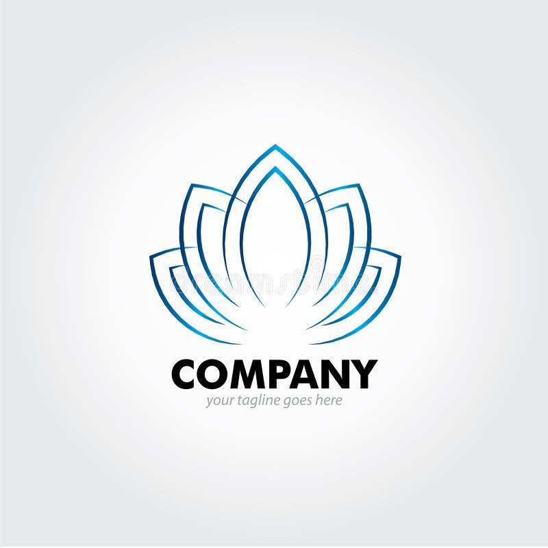 Lotus Logo Design azul ilustração stock