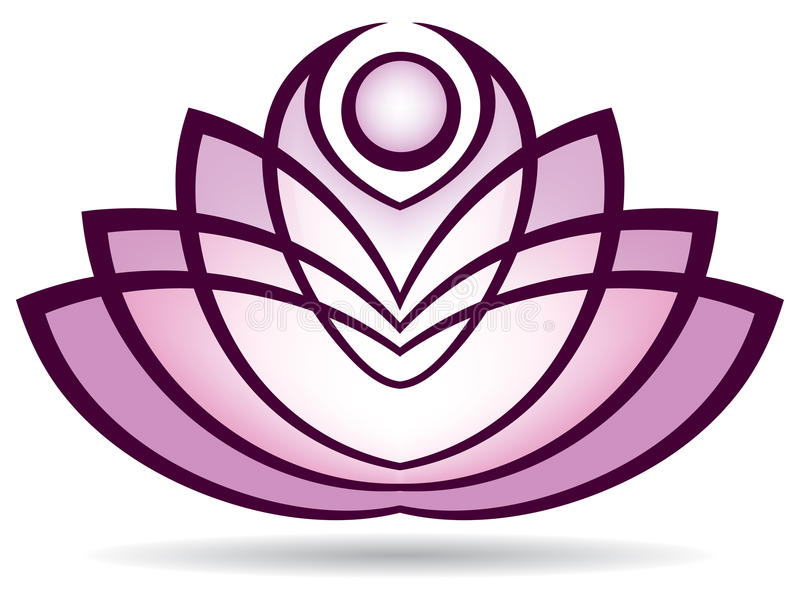 Lotus Logo royalty free illustration