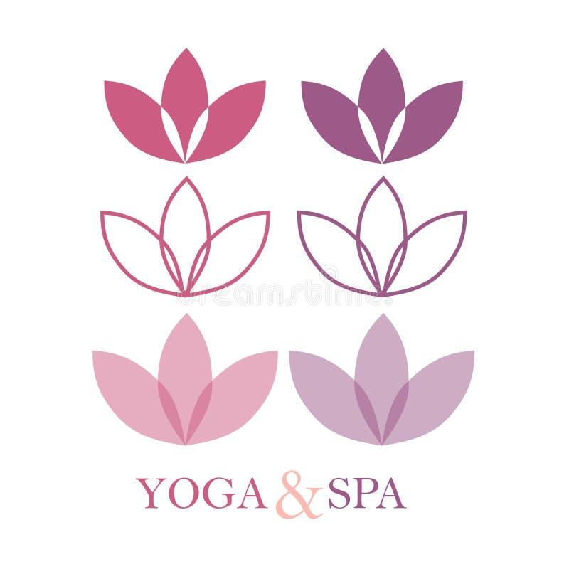Lotus Logo,Lotus flower logo. stock illustration