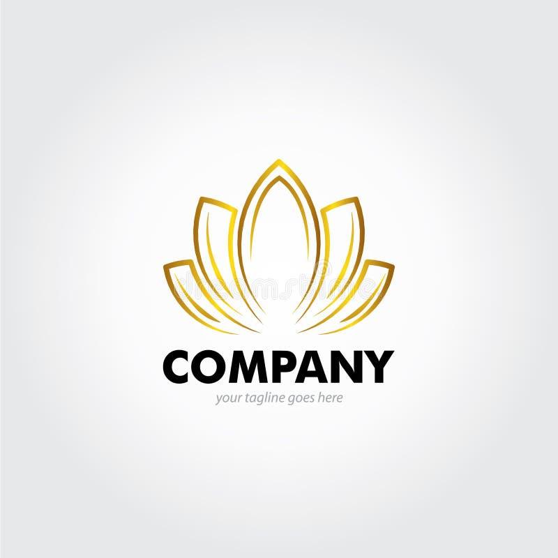 Lotus Logo luxuoso ilustração stock