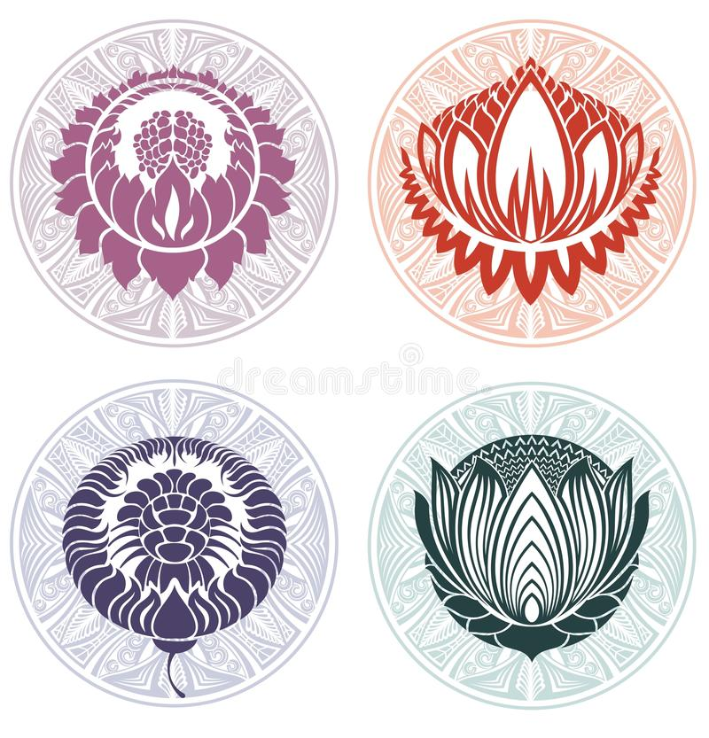 Lotus Logo Templates ilustração royalty free