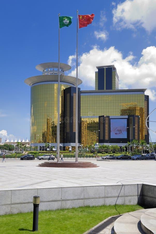 lotus Macau square zdjęcie royalty free